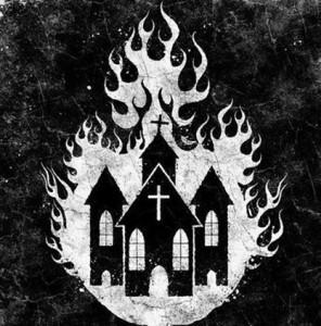 iglesia arde